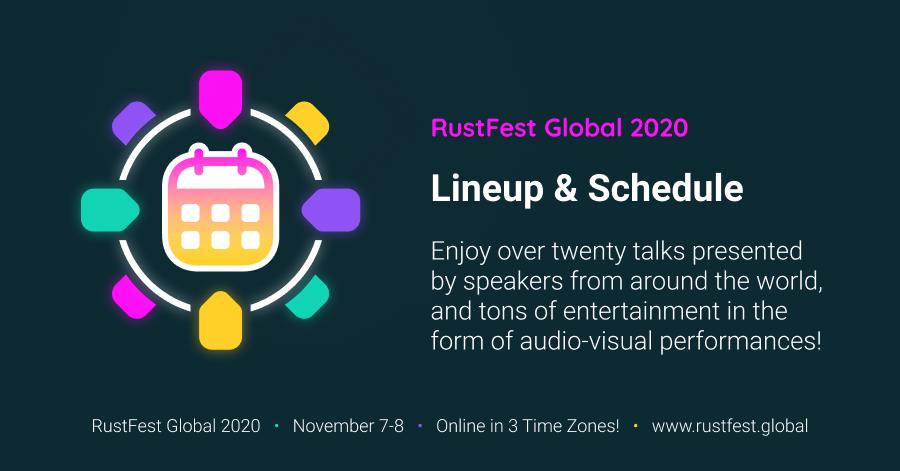 RustFest Global - Full Schedule